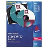 Avery Laser CD Labels, Matte White, 30/Pack