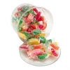 Assorted Fruit Slices Candy, Individually Wrapped, 2 lb Resealable Plastic Tub