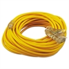 CCI Polar/Solar Outdoor Extension Cord, 100ft, Three-Outlets, Yellow