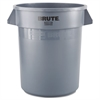 Rubbermaid Commercial Brute Round Container, 20gal, Gray