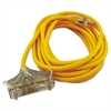 CCI Polar/Solar Outdoor Extension Cord, 25ft, Three-Outlets, Yellow