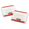 Post-it File Tabs, 2 x 1 1/2, Lined, Red, 50/Pack