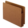 Pendaflex Heavy-Duty End Tab File Pockets, Straight Cut, 1 Pocket, Letter, Brown