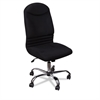 BALT Olympus Big & Tall Chair, Black Back/Seat, Chrome Base