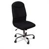BALT Olympus Big & Tall Chair, Black Back/Seat, Chrome Base