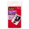 Scotch Self-Sealing Laminating Pouches, Glossy, 2 13/16 x 3 15/16, Wallet Size, 5/Pack