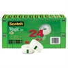 "Scotch Magic Tape Value Pack, 3/4"" x 1000"", 1"" Core, Clear, 24/Pack"