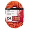 CCI Outdoor Round Vinyl Extension Cord, 14/3 AWG, 100ft, Orange