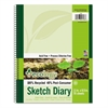 Pacon Ecology Sketch Diary, 11 x 8 1/2, Unruled, White, 70 Sheets, 1 Pad