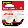 "Scotch Transparent Tape in Hand Dispenser, 1/2"" x 450"", 1"" Core, Clear"