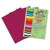 Roselle Premium Sulphite Construction Paper, 76 lbs., 12 x 18, Magenta, 50/Pack