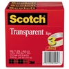 "Scotch Transparent Tape 600 72 3PK, 1"" x 2592"", 3"" Core, Transparent, 3/Pack"