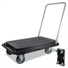 deflecto Heavy-Duty Platform Cart, 300lb Capacity, 21w x 32 1/2d x 36 3/4h, Black