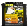 Master Caster Deluxe Seat/Back Cushion w/Memory Foam, 17w x 2 3/4d x 17 1/2h, Black