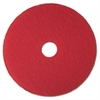 "Low-Speed Buffer Floor Pads 5100, 15"" Diameter, Red, 5/Carton"
