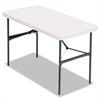 Alera Banquet Folding Table, Rectangular, Radius Edge, 48 x 24 x 29, Platinum/Charcoal
