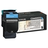 Lexmark C544X2CG Extra High-Yield Toner, 4,000 Page Yield, Cyan