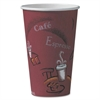 SOLO Cup Company Bistro Design Hot Drink Cups, Paper, 16oz, Maroon, 50/Pack