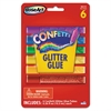 RoseArt Confetti Glitter Glue Sticks, Assorted, .21 oz, 6 Sticks