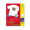 Light Fabric Transfers for Inkjet Printers, 8 1/2 x 11, White, 12/Pack