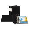"Samsill DXL Heavy-Duty Locking D-Ring Binder With Label Holder, 5"" Cap, Black"
