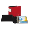 "DXL Heavy-Duty Locking D-Ring Binder With Label Holder, 5"" Cap, Red"