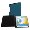 "DXL Heavy-Duty Locking D-Ring Binder With Label Holder, 1"" Cap, Teal"