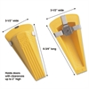 Master Caster Giant Foot Magnetic Doorstop, No-Slip Rubber Wedge, 3-1/2w x 6-3/4d x 2h, Yellow