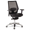 K8 Series Ergonomic Multifunction Mesh Chair, Aluminum Base/Frame, Black