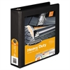 "Heavy-Duty D-Ring View Binder w/Extra-Durable Hinge, 2"" Cap, Black"