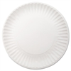 "Dixie White Paper Plates, 9"" dia, 250/Pack, 4 Packs/Carton"