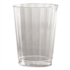 Classic Crystal Plastic Tumblers, 10 oz., Clear, Fluted, Tall, 12/Pack