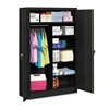 Tennsco Jumbo Combination Steel Storage Cabinet, 48w x 24d x 78h, Black