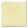 Microfiber Cleaning Cloths, 16 x 16, Yellow, 24/Pack