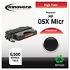 Innovera Remanufactured CE505X(M) (05XM) High-Yield MICR Toner, Black