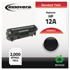 Innovera Remanufactured Q2612A (12A) Toner, Black