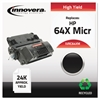 Innovera Remanufactured CC364X(M) (64XM) High-Yield MICR Toner, Black