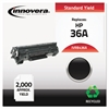 Remanufactured CB436A (36A) Toner, Black