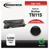 Innovera Remanufactured TN115BK High-Yield Toner, Black