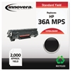 Innovera Remanufactured CB436A(M) (36AM) MICR Toner, Black