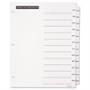 Office Essentials Table 'n Tabs Dividers, 12-Tab, Letter