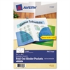 Avery Small Binder Pockets, Fold-Out, 5 1/2 x 9 1/4, Assorted, 3/Pack