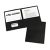 Avery Two-Pocket Folder, 20-Sheet Capacity, Black, 25/Box