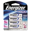 Lithium Batteries, AA, 4/Pack