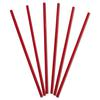"Dixie Wrapped Giant Straws, 10 1/4"", Polypropylene, Red, 300/Box, 4 Boxes/Carton"