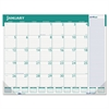 Express Track Monthly Desk Pad Calendar, 22 x 17, 2017-2018