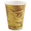 SOLO Cup Company Mistique Polycoated Hot Paper Cup, 8 oz, Printed, Brown
