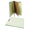 Pressboard Classification Folder, Letter, Six-Section, Gray-Green, 10/Box