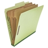 Pressboard Classification Folder, Letter, Eight-Section, Green, 10/Box