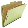 Pressboard Classification Folder, Legal, Eight-Section, Green, 10/Box